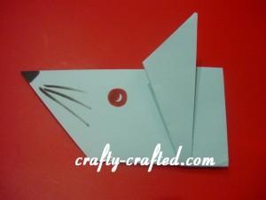 Origami rat.