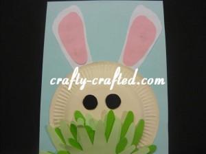Footprint paper plate rabbit.