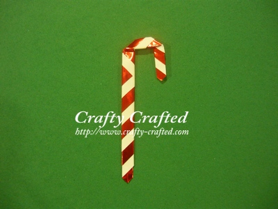 Origami candy cane.