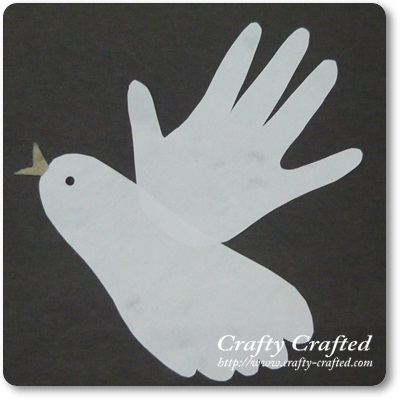 Crafty crafts for children bird for Hand and foot crafts