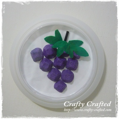 Egg Carton Crafts Grapes