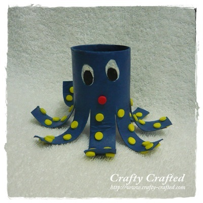 Toilet Paper Roll Octopus Crafty Crafted Com