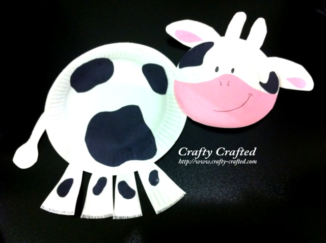 Paper Plate Cow & Crafty-Crafted.com » Blog Archive | Crafts for Children » Paper ...