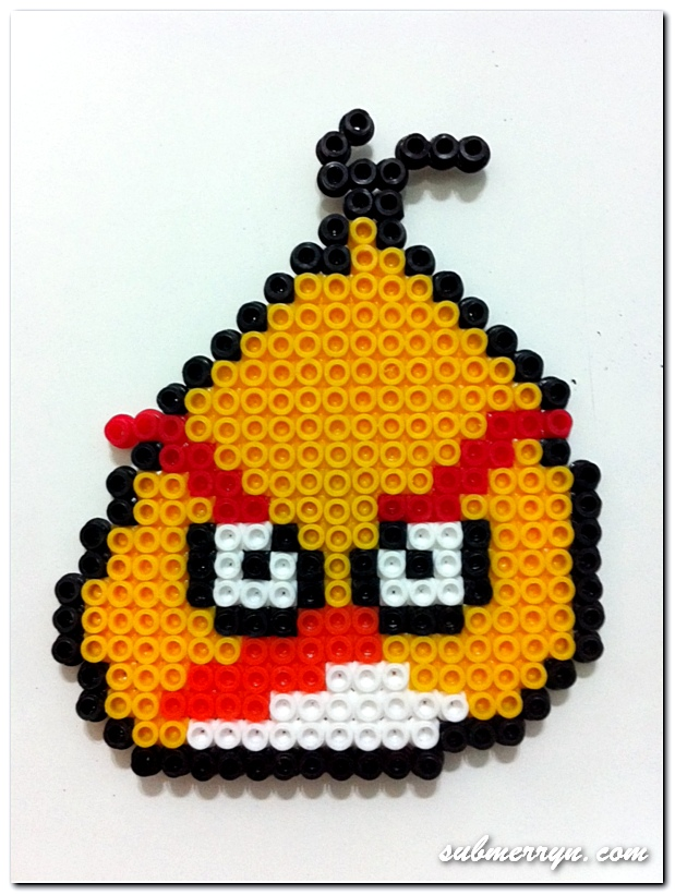 Yellow Angry Bird Pyssla Beads
