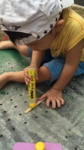 Footprint Popsicle Art